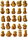 Profession occupation business trade vocation set of gold figurines Stock Images