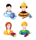 Profession people set of icons with Royalty Free Stock Images