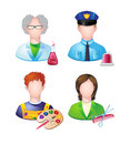 Profession people set of icons with Stock Photography