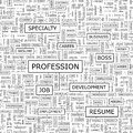Profession seamless pattern word cloud illustration Royalty Free Stock Image