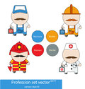 Profession set vector Royalty Free Stock Photo
