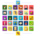 Profession, tourism, animals and other web icon in flat style.education, textiles, medicine, icons in set collection.