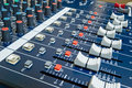 Professional audio mixer Stock Photography