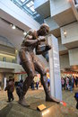 Professional boxer joe louis sculpture of american at the arena nicknamed the is a multi purpose arena located in Stock Photos