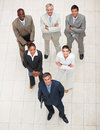 Professional business team looking upward Royalty Free Stock Image