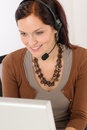 Professional call center representative woman Stock Images