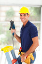 Professional cctv system installer tools Stock Image