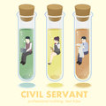Professional civil servant concept