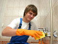 Professional cleaning Royalty Free Stock Photo