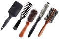 Professional combs isolated on white Royalty Free Stock Photo