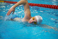 Professional competitive swimmer Royalty Free Stock Photography