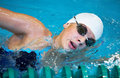 Professional competitive swimmer Royalty Free Stock Image