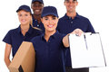 Professional courier service Stock Images