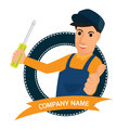 Professional creative vector character graphic logo design