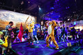 Professional dancers promoting Just Dance 2015