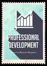 Professional Development on Blue in Flat Design. Royalty Free Stock Photography