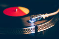 Professional dj turntable with illumination Royalty Free Stock Photo