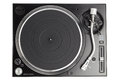 Professional dj turntable isolated on white Royalty Free Stock Photo
