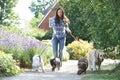 Professional Dog Walker Exerci...