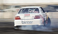 Professional drift racer slid around Royalty Free Stock Images