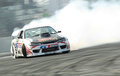 Professional drift racer slid around Stock Images