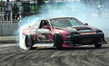 Professional drift racer slid around Stock Photography