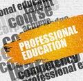 Professional Education on White Brick Wall. Royalty Free Stock Photo