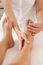Professional feet massage Royalty Free Stock Photos