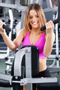 Professional female fitness instructor Royalty Free Stock Images