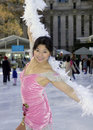 Professional female skater Royalty Free Stock Image