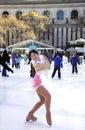 Professional female skater Stock Image