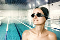 Professional female swimmer Royalty Free Stock Photography