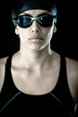 Professional female swimmer Stock Photos