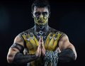 Professional make-up scorpion