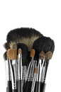 Professional makeup brushes Stock Photo