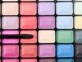 Professional makeup palette closeup studio macro shot Stock Photography