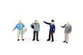 Professional male figurines beautiful shot of on white background Royalty Free Stock Photos