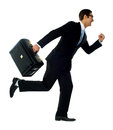 Professional man in running a posture Stock Images