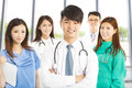 Professional medical doctor team standing in clinic or hospital Royalty Free Stock Photo