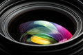 Professional modern DSLR camera lense ow key image Royalty Free Stock Photo