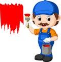 Professional painter cartoon