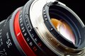 Professional photo lens closeup Royalty Free Stock Photo