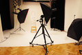Professional photo studio and equipment big with expensive Stock Photos