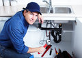 Professional plumber plumbing repair service Royalty Free Stock Photography