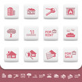Professional real estate business vector icon set Royalty Free Stock Image