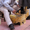 Professional shoe shine Royalty Free Stock Photo