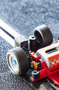 Professional slot car detail engine particularly of a Royalty Free Stock Image