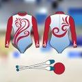 Professional sports uniform for rhythmic gymnastics. Isolated image.