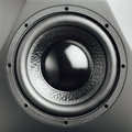 Professional studio subwoofer speaker closeup view Stock Image