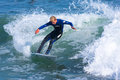 Professional surfer richie schmidt surfing california pro at steamer lane santa cruz Stock Photo